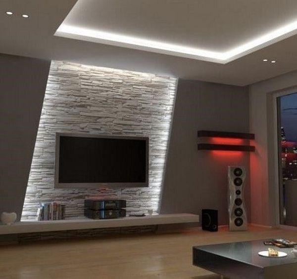 22 idei de amenajari interioare cu rigips pentru un decor. Black Bedroom Furniture Sets. Home Design Ideas