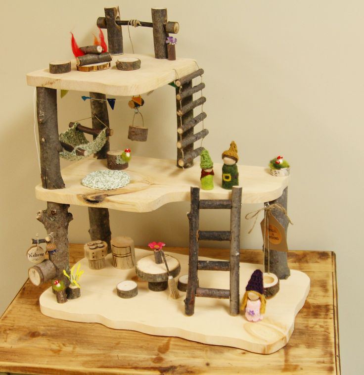230 Best Images About Wooden Tree Houses Peg Dolls Fairy