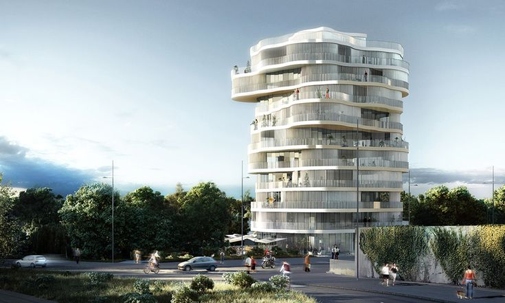 farshid moussavi architecture wins montpellier tower residence competition  project info:  location: montpellier, france client: SERM montpellier competition date: 2013 total area: residential 2430m2, retail 260 m2 architect: farshid moussavi architecture