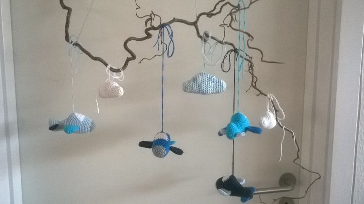#baby#mobile#crochet#aircraft#