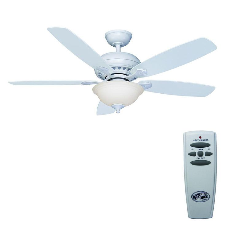 Matte White Ceiling Fan