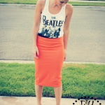 DIY Fitted Pencil Skirt