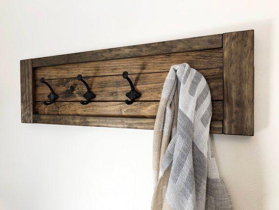 Rustic Coat Rack Wall Mount Hanger For Holder