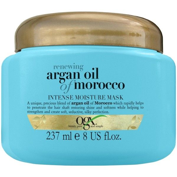 Ogx Argan Oil Intense Moisture Mask ($20) ❤ liked on Polyvore featuring beauty products, beauty, haircare, transparent and womens-fashion