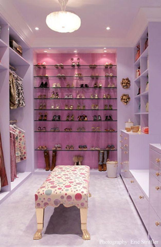 Purple drawers - Layla's closet