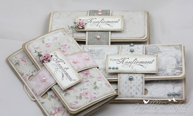 Wallet Card - using gorgeous paper. Tutorial site given on her blog.