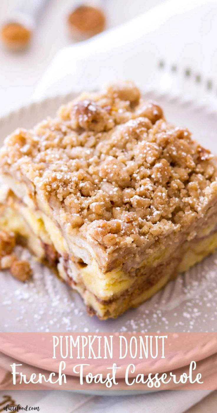 The best fall breakfast recipe is this Easy Pumpkin Donut French Toast Casserole with a brown sugar crumb cake topping. Pumpkin Donut holes are baked ...