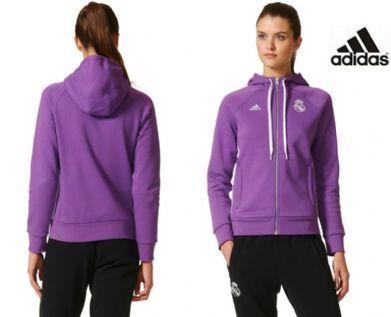 Sudadera femenina morada con capucha Real Madrid