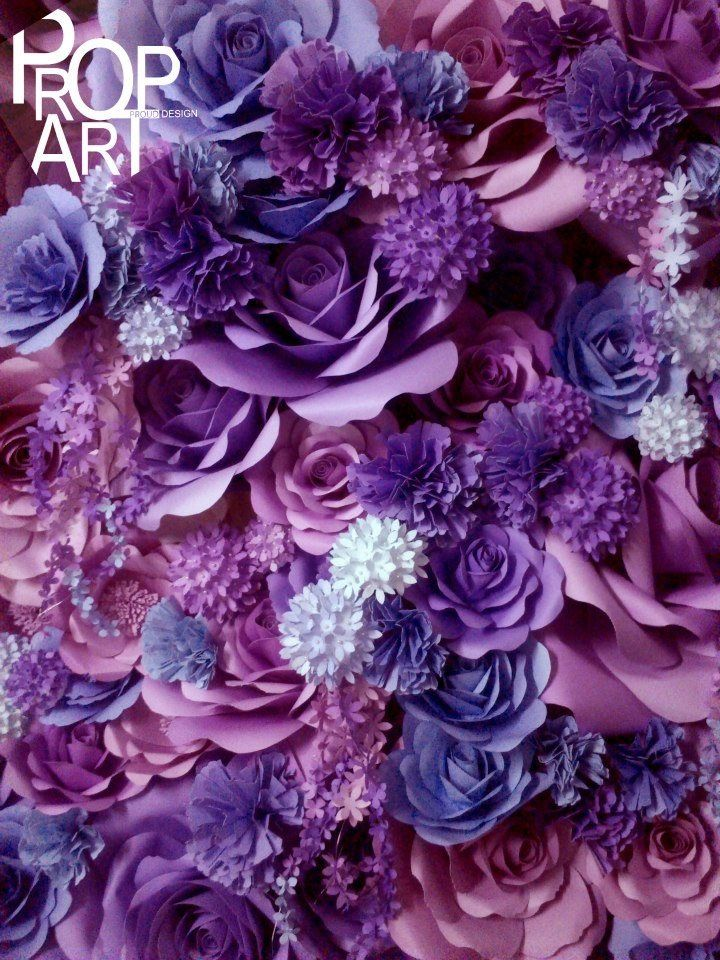 Breathtaking paper flower backdrop from PropArt! https://www.facebook.com/ThisIsPropArt