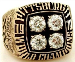1980 Pittsburgh Steelers Super Bowl Ring.it was a bit of a struggle for them to get this one.and it was sad to see what happened to the steelers in the early 80's after they won their 4th superbowl.