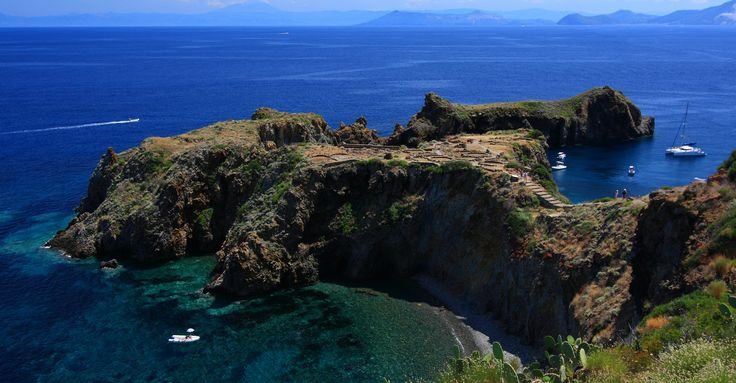 The beautiful bay of #Calajunco , above which lies the prehistoric village of Cape Milazzese