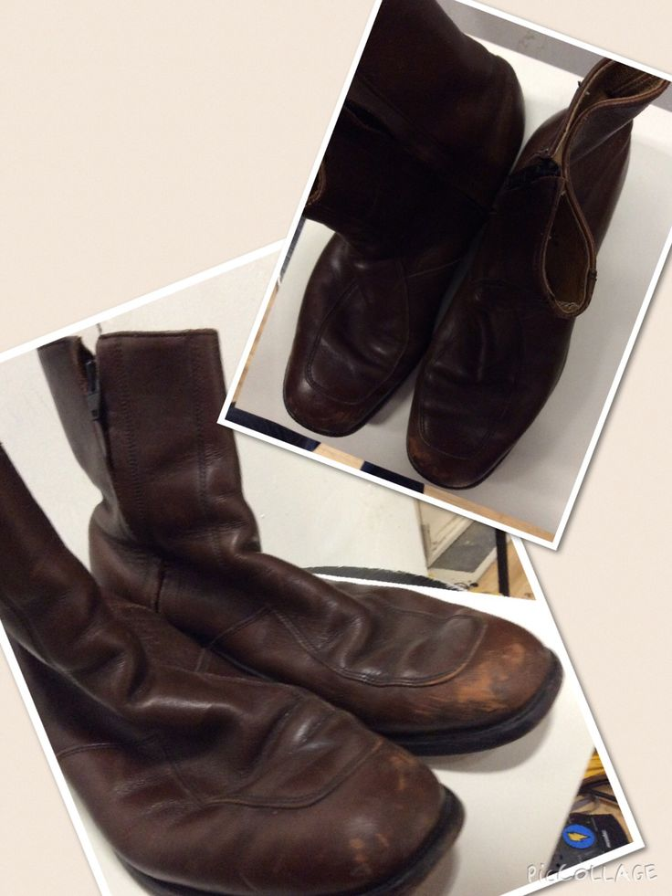 Men's size 9. Brown leather ankle boots.