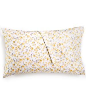 Martha Stewart Collection Cotton Percale 400-Thread Count Printed Pair of Standard Pillowcases, Created for Macy's -