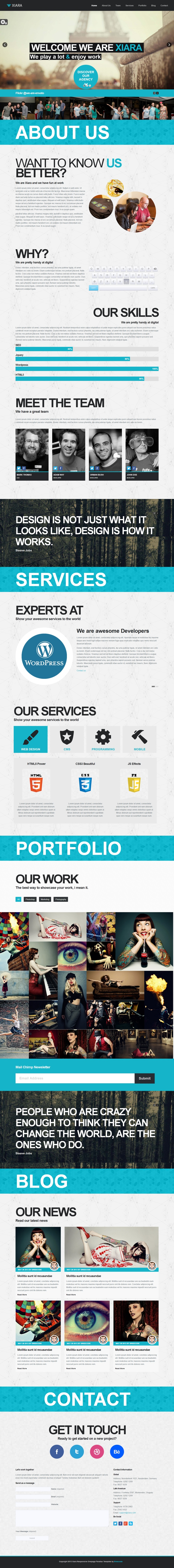 Onepage Parallax HTML Template by ~WordPressAwards on deviantART