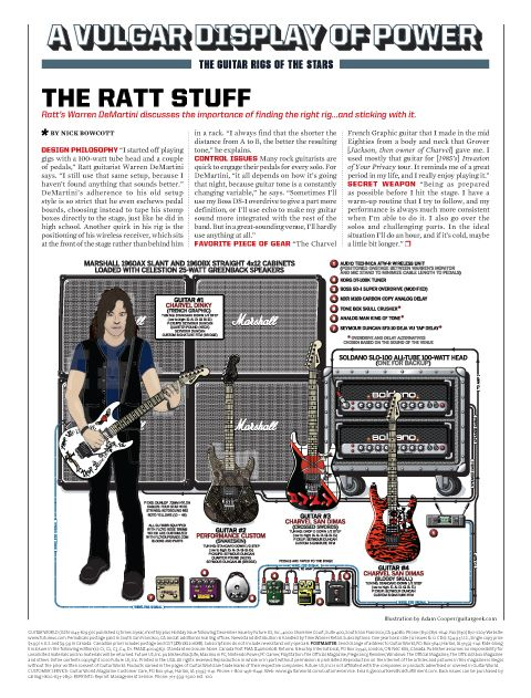 Warren DeMartini : FU-TONE.COM, OFFICIAL BIG BLOCK PERFORMANCE UPGRADES FOR YOUR GUITAR! www.fu-tone.com