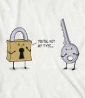 Funny lock and key shirt. A great gift for a locksmith. http://skreened.com/lgtshirts/funny-lock-key-locksmith-shirt