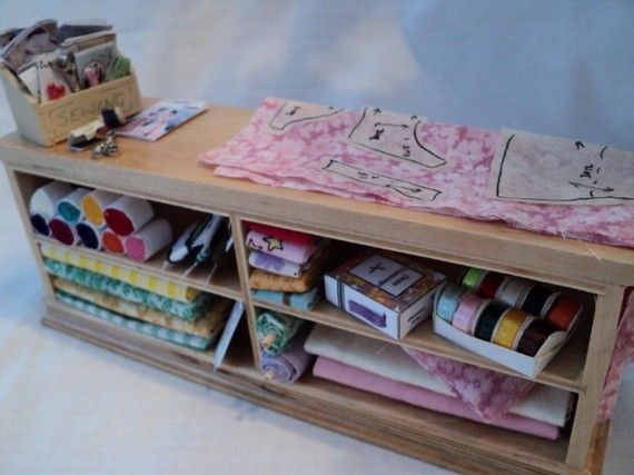 Miniature SEWING COUNTER
