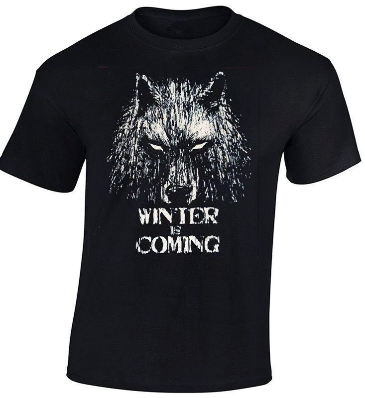 >> Click to Buy << Game Of Thrones T-Shirt Men's Direwolf Winter Is Coming Print T Shirt 100% Cotton Summer Top Tee Adults Clothing Black US Size #Affiliate