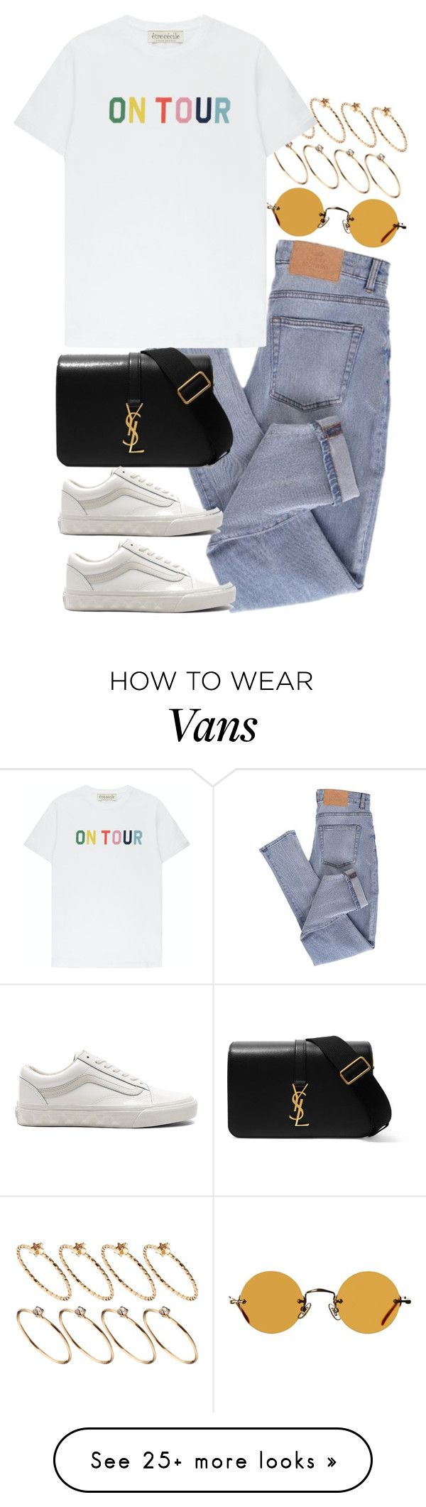 """Untitled #11583"" by nikka-phillips on Polyvore featuring ASOS, Cheap Monday, Être Cécile, Vans, Yves Saint Laurent and Hakusan"