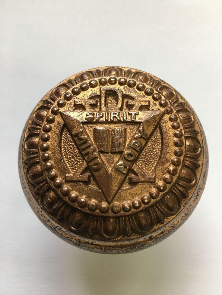Antique Brass Door Knob Mind - Body - Sprit  | eBay
