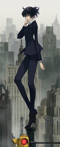 anime picture 408x1000 with kekkai sensen chain sumeragi dakuro single tall image short hair