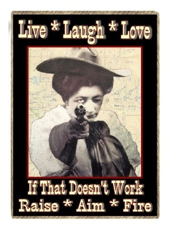 Funny Shooting Cowgirl Country Western Gift Raise Aim Fire Refrigerator Magnet: Amazon.com: Kitchen & Dining