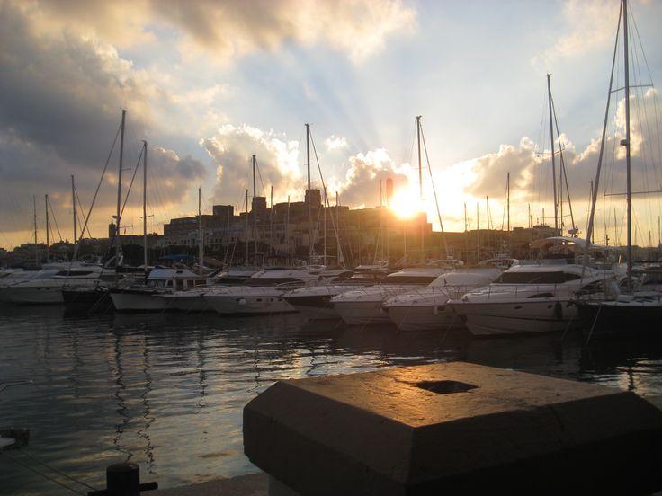 Sunset over Ta' Xbiex, Malta