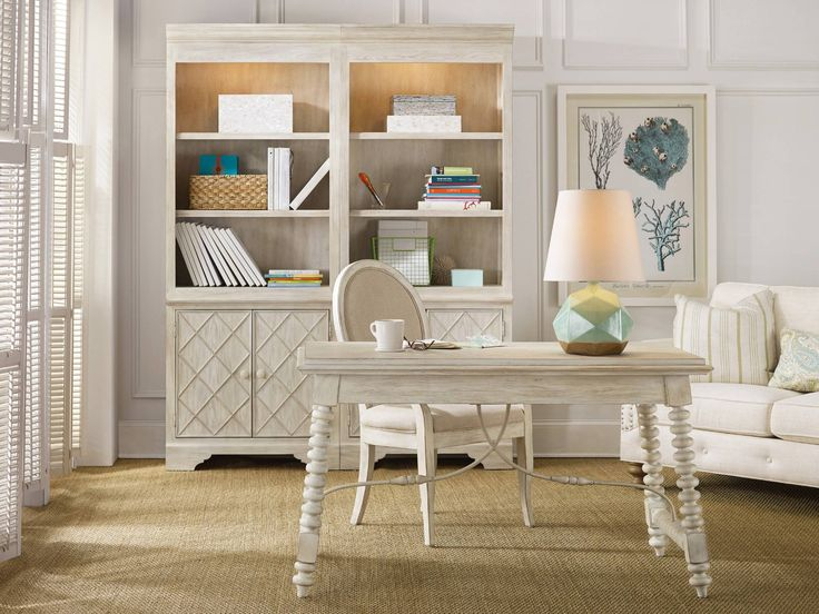 Hooker Furniture Sunset Point Casual Cottage Coastal Writing Desk With  Drop Front Drawer   Barrow Fine Furniture   Table Desk Mobile, Dothan, AL U0026  Pensacola ...
