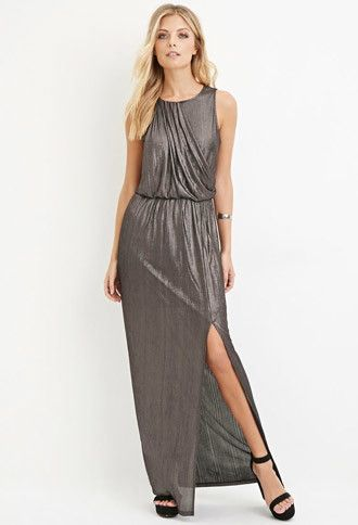 Contemporary Metallic Maxi Dress | Forever 21 - 2000182583
