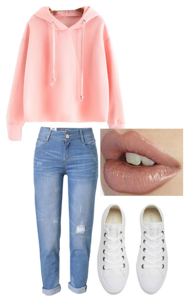 """""""Tenue n°13"""" by vava-creatrice on Polyvore featuring WithChic and Converse"""