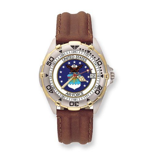 Mens US Air Force All-Star Leather Band Watch . $84.00. Save 33%!