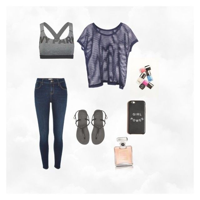 """""""Untitled #10"""" by itsjesslee ❤ liked on Polyvore featuring River Island, Ivy Park, Havaianas and Chanel"""