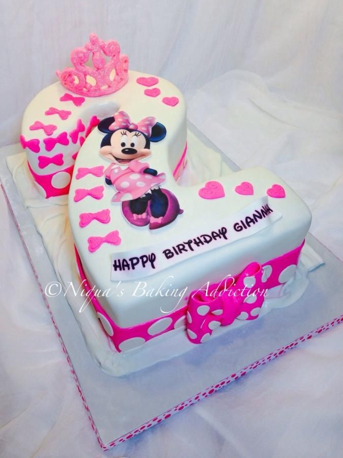Minnie Mouse Number 2 Cake - Cake by Niqua's Baking Addiction