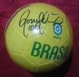 Ronaldinho Autographed Soccer Ball - Autographed Soccer Balls