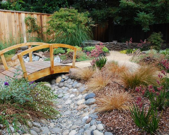 46 best images about dry creek beds on pinterest gardens for Dry landscape design