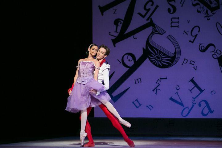 Tanya Howard and Evan McKie in Alice's Adventures in Wonderland. Photo by Karolina Kuras.