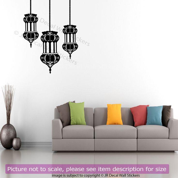 Arabic Lamp Light Wall Sticker Islamic Home Decor QV-34