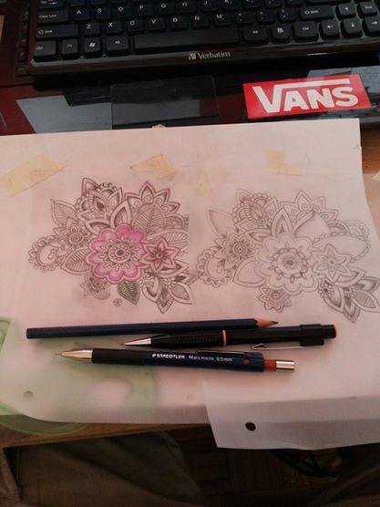 Diseñando flores para cover