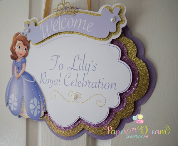 Sofia the first door sign  Sofia welcome door by PaperDreamCre