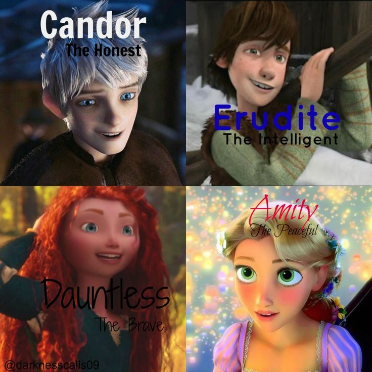 made by @Laurel Wypkema Wypkema Wypkema elizabeth these are the factions I would put the big four in :)