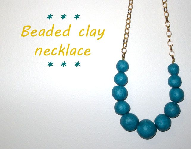 Pearl necklace made from home made clay | Leth.it.be.