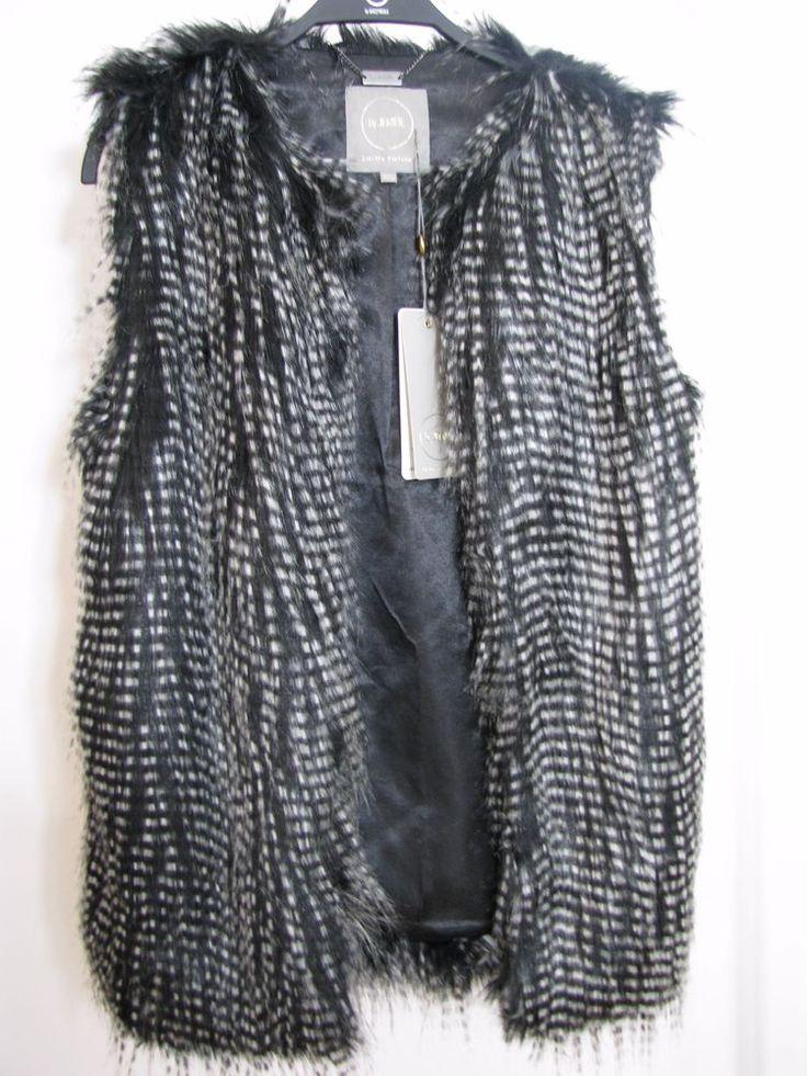 NWT Chic Women Faux Fur Waistcoat Vest by Designer Lukasz Jemiol  Size S/M #Zara #Casual #FallWinter