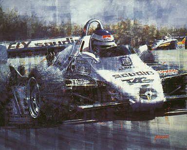 Keke Rosberg, Williams-Ford F1 art print by Juan Carlos Ferrigno
