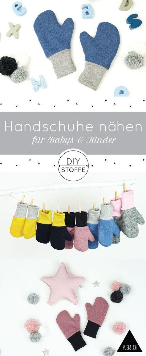 DIY Handschuhe/Fäuslinge für Babys & Kinder - Nähanleitung und Schnittmuster bei diy-stoffe.de - auch für Nähanfänger geeignet