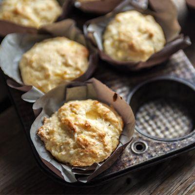 Muffins aux ananas et noix de coco