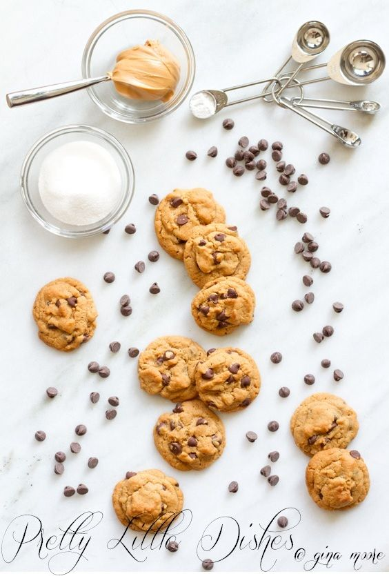 Peanut Butter & Chocolate Chip Cookies | Cookies | Pinterest