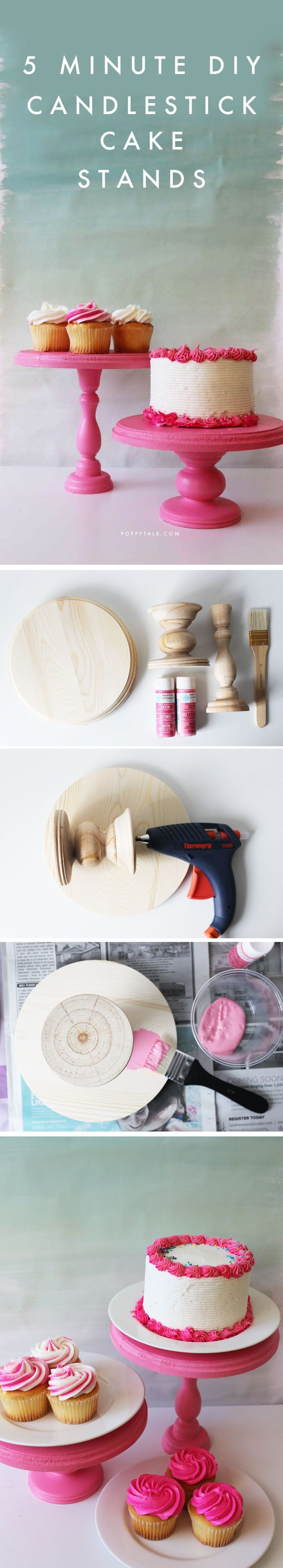 5 Minute DIY using wooden candlesticks, a round plaque and a glue gun! So easy and under $20.
