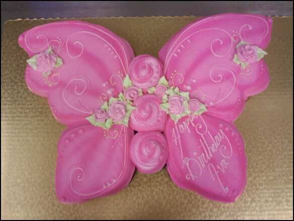 Butterfly cupcake cake!