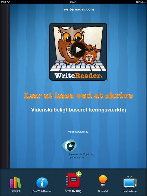 En app, som vi bruger i klassen til at skrive historier