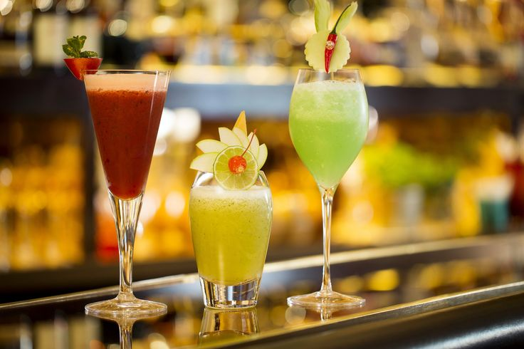 The Bar at The Dorchester, three Mocktails